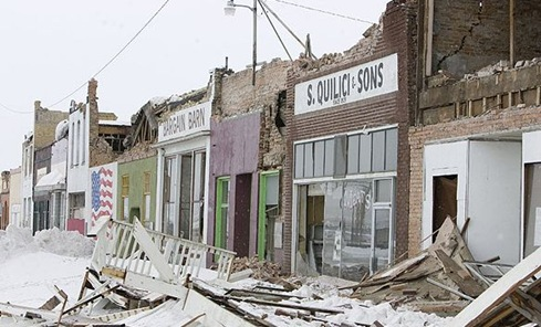 Damage from the February 2008 Nevada quake | Image: CNN